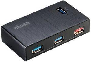 AKASA HB-13BK ELITE 4EX 4-PORT USB3.0 HUB WITH FAST CHARGING PORT υπολογιστές usb hubs 4 ports