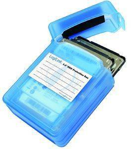LOGILINK UA0132 HARD COVER PROTECTION BOX FOR 2X 2.5'' HDD BLUE