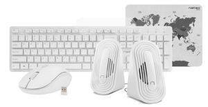 NATEC NKL-1181 TETRA WIRELESS SET 4IN1 WHITE