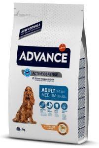 ΤΡΟΦΗ ADVANCE MEDIUM ADULT ΚΟΤΟΠΟΥΛΟ ΚΑΙ ΡΥΖΙ 3KG pet shop σκυλοσ ξηρη τροφη adult 2 6 ετων