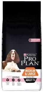 ΤΡΟΦΗ PURINA PRO PLAN DOG MEDIUM - LARGE ADULT 7+ SENSITIVE SKIN WITH OPTIDERMA  pet shop σκυλοσ ξηρη τροφη senior ανω των 6 ετων
