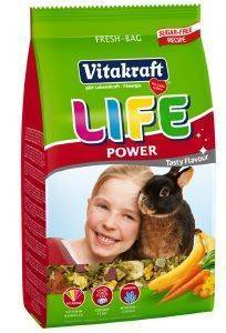 ΤΡΟΦΗ ΓΙΑ ΚΟΥΝΕΛΙΑ VITAKRAFT LIFE POWER HIGH PREMIUM (600GR) pet shop τρωκτικο τροφεσ 500 900 γραμ