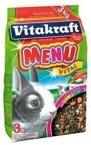 ΤΡΟΦΗ ΓΙΑ ΚΟΥΝΕΛΙΑ VITAKRAFT MENU VITAL 3KG pet shop τρωκτικο τροφεσ 1 3 κιλα