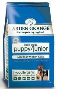 ΤΡΟΦΗ ARDEN GRANGΕ PUPPY/JUNIOR LARGE BREED ΜΕ ΚΟΤΟΠΟΥΛΟ - ΡΥΖΙ 2KG pet shop σκυλοσ ξηρη τροφη puppy εωσ 2 ετων