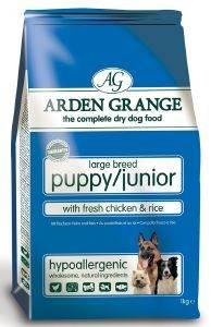 ΤΡΟΦΗ ARDEN GRANGΕ PUPPY/JUNIOR LARGE BREED ΜΕ ΚΟΤΟΠΟΥΛΟ - ΡΥΖΙ 6KG pet shop σκυλοσ ξηρη τροφη puppy εωσ 2 ετων