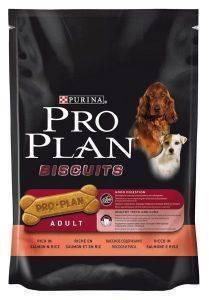 PROPLAN ADULT BISCUITS ΣΟΛΩΜΟΣ ΡΥΖΙ 400GR pet shop σκυλοσ κοκκαλα λιχουδιεσ snacks λιχουδιεσ