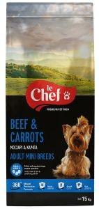 ΤΡΟΦΗ ΣΚΥΛΟΥ LE CHEF SMALL BREED ΚΑΡΟΤΑ ΚΡΕΑΣ 15KG pet shop σκυλοσ ξηρη τροφη adult 2 6 ετων