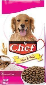 ΤΡΟΦΗ ΣΚΥΛΟΥ LE CHEF ΑΡΝΙ ΚΑΙ ΡΥΖΙ 15KG pet shop σκυλοσ ξηρη τροφη adult 2 6 ετων