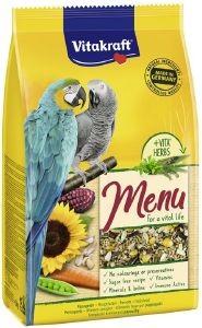 ΤΡΟΦΗ ΓΙΑ ΜΕΓΑΛΟΥΣ ΠΑΠΑΓΑΛΟΥΣ VITAKRAFT MENU PREMIUM ΜΕ ΜΕΛΙ (1KG) pet shop πτηνο τροφεσ τροφεσ