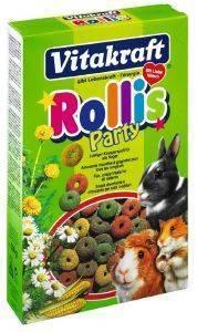 ΔΑΧΤΥΛΙΔΑΚΙΑ VITAKRAFT ROLLIS PARTI ΓΙΑ ΟΛΑ ΤΑ ΤΡΩΚΤΙΚΑ 500GR pet shop τρωκτικο συμπληρωματα snacs snacks