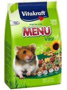 ΤΡΟΦΗ ΓΙΑ ΧΑΜΣΤΕΡ VITAKRAFT MENU VITAL PREMIUM 1KG pet shop τρωκτικο τροφεσ 1 3 κιλα
