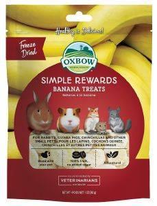 ΛΙΧΟΥΔIA OXBOW SIMPLE REWARDS ΜΠΑΝΑΝΑ 14GR pet shop τρωκτικο συμπληρωματα snacs snacks