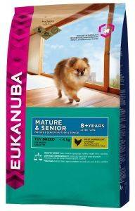 ΤΡΟΦΗ ΣΚΥΛΟΥ EUKANUBA MATURE TOY BREEDS ΚΟΤΟΠΟΥΛΟ 1.5KG pet shop σκυλοσ ξηρη τροφη senior ανω των 6 ετων
