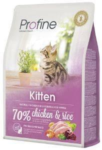 ΤΡΟΦΗ PROFINE KITTEN ΜΕ ΚΟΤΟΠΟΥΛΟ - ΡΥΖΙ 2KG pet shop γατα ξηρη τροφη kitten εωσ 1 ετοσ