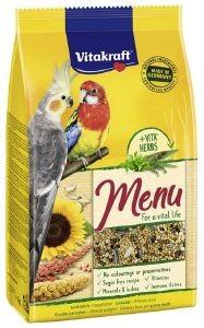 ΤΡΟΦΗ ΓΙΑ ΜΕΣΑΙΟΥΣ ΠΑΠΑΓΑΛΟΥΣ VITAKRAFT MENU PREMIUM ΜΕ ΜΕΛΙ (1KG) pet shop πτηνο τροφεσ τροφεσ