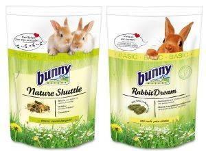 ΤΡΟΦΗ ΓΙΑ ΚΟΥΝΕΛΙΑ BUNNY NATURE SHUTTLE 600GR +RABBIT DREAM BASIC 750GR pet shop τρωκτικο τροφεσ 500 900 γραμ