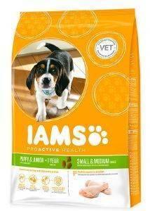 ΤΡΟΦΗ IAMS PYPPY SMALL - MEDIUM BREEDS ΜΕ ΚΟΤΟΠΟΥΛΟ - ΓΑΛΟΠΟΥΛΑ 12KG pet shop σκυλοσ ξηρη τροφη puppy εωσ 2 ετων