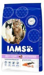 ΤΡΟΦΗ IAMS ADULT MULTI-CAT HOUSEHOLDS ΜΕ ΚΟΤΟΠΟΥΛΟ/ΣΟΛΩΜΟ (15KG) pet shop γατα ξηρη τροφη adult 1 7 ετη