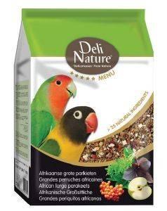 ΤΡΟΦΗ ΓΙΑ ΑΦΡΙΚΑΝΙΚΑ ΠΑΠΑΓΑΛΑΚΙΑ ΜΕΣΑΙΟΥ ΜΕΓΕΘΟΥΣ DELI NATURE 5 STAR MENU (800GR pet shop πτηνο τροφεσ τροφεσ