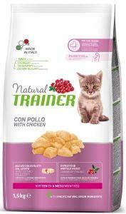 ΤΡΟΦΗ ΓΑΤΑΣ TRAINER NATURAL ΚΙΤΤΕΝ ΚΟΤΟΠΟΥΛΟ-ΓΑΛΟΠΟΥΛΑ 1.5KG pet shop γατα ξηρη τροφη kitten εωσ 1 ετοσ