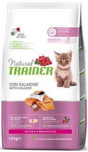 ΤΡΟΦΗ ΓΑΤΑΣ TRAINER NATURAL ΚΙΤΤΕΝ ΣΟΛΟΜΟΣ 1.5KG pet shop γατα ξηρη τροφη kitten εωσ 1 ετοσ