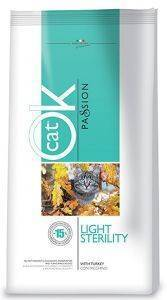 ΤΡΟΦΗ ΓΑΤΑΣ OK PASSION CAT ADULT LIGHT STERILITY 1.5KG