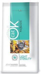 ΤΡΟΦΗ ΓΑΤΑΣ OK PASSION CAT ADULT LIGHT STERILITY 12.5KG pet shop γατα ξηρη τροφη adult 1 7 ετη