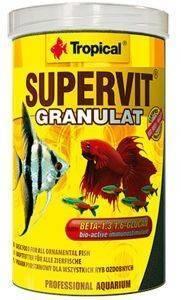 ΤΡΟΦΗ ΨΑΡΙΩΝ TROPICAL SUPERVIT GRANULAT 1000ML pet shop ψαρι τροφεσ τροφη ψαριου