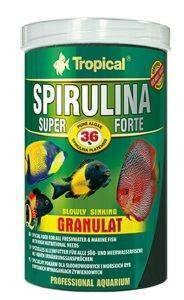 ΤΡΟΦΗ ΨΑΡΙΩΝ TROPICAL SUPER SPIRULINA FORTE GRANULAT (36%) 5L pet shop ψαρι τροφεσ τροφη ψαριου