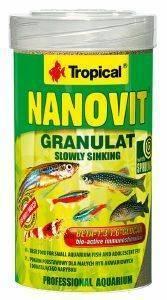 ΤΡΟΦΗ ΨΑΡΙΩΝ TROPICAL NANOVIT GRANULAT 100ML pet shop ψαρι τροφεσ τροφη ψαριου