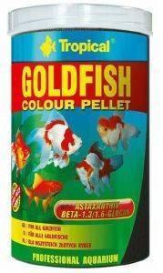 ΤΡΟΦΗ ΨΑΡΙΩΝ TROPICAL GOLDFISH COLOUR PELLET 250ML pet shop ψαρι τροφεσ χρυσοψαρα κοι
