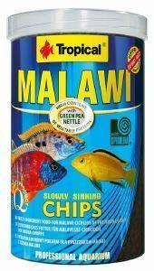 ΤΡΟΦΗ ΨΑΡΙΩΝ TROPICAL MALAWI CHIPS 1000ML pet shop ψαρι τροφεσ τροφη ψαριου