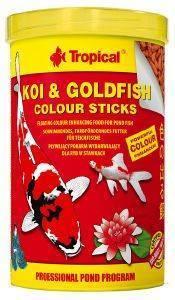 ΤΡΟΦΗ TROPICAL KOI - GOLDFISH COLOUR STICKS 1000ML pet shop ψαρι τροφεσ χρυσοψαρα κοι