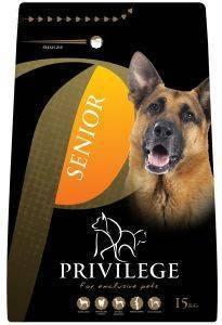 ΤΡΟΦΗ ΣΚΥΛΟΥ PRIVILEGE SENIOR ΚΟΤΟΠΟΥΛΟ 15KG pet shop σκυλοσ ξηρη τροφη senior ανω των 6 ετων