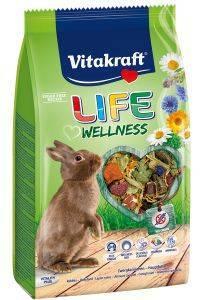 ΤΡΟΦΗ ΓΙΑ ΚΟΥΝΕΛΙΑ VITAKRAFT LIFE WELLNESS HIGH PREMIUM 600GR pet shop τρωκτικο τροφεσ 500 900 γραμ