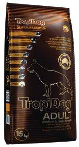 ΤΡΟΦΗ ΣΚΥΛΟΥ TROPIDOG SUPER PREMIUM ADULT MEDIUM & LARGE BREEDS ΑΡΝΙ & ΡΥΖΙ 15KG