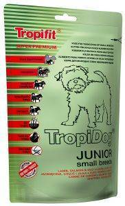 ΤΡΟΦΗ ΣΚΥΛΟΥ TROPIDOG SUPER PREMIUM JUNIOR SMALL BREEDS ΑΡΝΙ, ΣΟΛΩΜΟΣ - ΑΥΓΑ 400 pet shop σκυλοσ ξηρη τροφη puppy εωσ 2 ετων