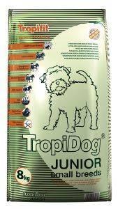 ΤΡΟΦΗ ΣΚΥΛΟΥ TROPIDOG SUPER PREMIUM JUNIOR SMALL BREEDS ΑΡΝΙ, ΣΟΛΩΜΟΣ - ΑΥΓΑ 8KG pet shop σκυλοσ ξηρη τροφη puppy εωσ 2 ετων
