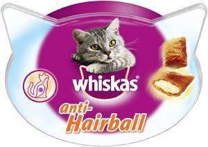 ΣΝΑΚ  WHISKAS TEMPTATIONS ANTI-HAIRBALL ΚΟΤΟΠΟΥΛΟ 60GR