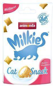 SNACK ΓΑΤΑΣ ANIMONDA MILKIES CRUNCHY PILLOW WELLNESS 30GR