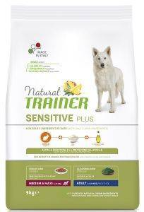 ΤΡΟΦΗ ΣΚΥΛΟΥ TRAINER SENSITIVE PLUS ADULT MEDIUM & MAXI ΚΟΥΝΕΛΙ 3KG