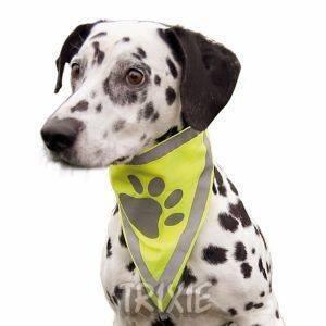 ΜΠΑΝΤΑΝΑ TRIXIE ΦΩΣΦΟΡΙΖΟΥΣΑ S-M pet shop σκυλοσ ενδυση μπαντανεσ