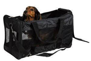 ΤΣΑΝΤΑ TRIXIE ΜΕΤΑΦΟΡΑΣ ΣΚΥΛΟΥ ΜΑΥΡΗ 26X27X47CM pet shop σκυλοσ ειδη μεταφορασ τσαντεσ μεταφορασ