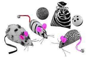 ΠΑΙΧΝΙΔΙΑ ΓΑΤΑΣ ΝΟΒΒΥ ΣΕΤ 6 ΤΕΜΑΧΙΩΝ pet shop γατα παιχνιδια ποντικακια