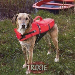 ΣΩΣΙΒΙΟ ΣΚΥΛΩΝ TRIXIE XSMALL 26CM RED BLACK pet shop σκυλοσ ασφαλεια σωσιβια