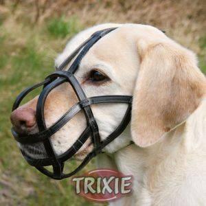 ΦΙΜΩΤΡΟ TRIXIE ΔΕΡΜΑΤΙΝΟ ΜΑΥΡΟ(LARGE) pet shop σκυλοσ ασφαλεια φιμωτρα