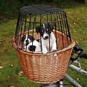 ΚΑΛΑΘΙ TRIXIE ΨΑΘΙΝΟ ΚΛΟΥΒΙ ΜΕΤΑΦΟΡΑΣ ΓΙΑ ΠΟΔΗΛΑΤΟ 44X48X33CM pet shop σκυλοσ ειδη μεταφορασ καλαθια ποδηλατου