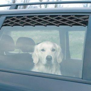 ΠΛΕΓΜΑ TRIXIE ΠΛΑΣΤΙΚΟ ΓΙΑ ΠΑΡΑΘΥΡΟ ΑΥΤΟΚΙΝΗΤΟΥ ΜΑΥΡΟ pet shop σκυλοσ ασφαλεια προστατευτικα πλεγματα