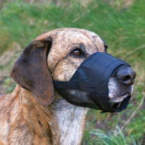 ΦΙΜΩΤΡΟ TRIXIE ΝΑΥΛΟΝ ΜΕ ΔΙΧΤΥ ΝΑΥΛΟΝ ΜΑΥΡΟ L-XL pet shop σκυλοσ ασφαλεια φιμωτρα