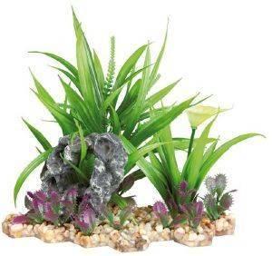 ΔΙΑΚΟΣΜΗΤΙΚΟ ΕΝΥΔΡΕΙΟΥ TRIXIE PLANT IN GRAVEL BED 18CM pet shop ψαρι διακοσμητικα ενυδρειου φυτα